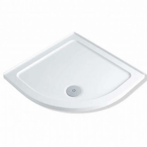 Anti-Slip MX Durastone 800mm x 800mm Low Profile Quadrant Shower Tray with Upstands XGD